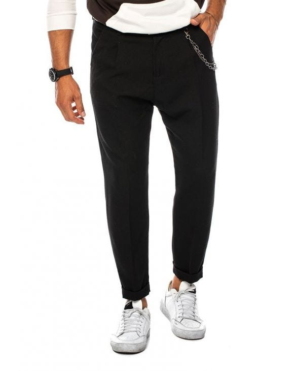 BENJAMIN PLEATED PANTS IN BLACK