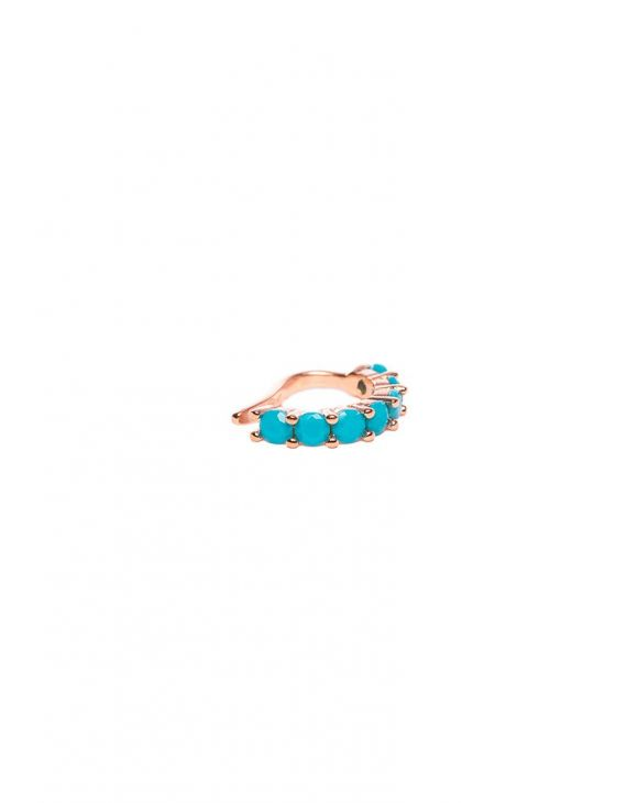 SKYLAR EARCUFF IN GOLD WITH TURQUOISE ZIRCONS