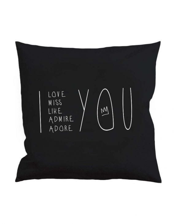 I AND YOU BLACK PILLOW