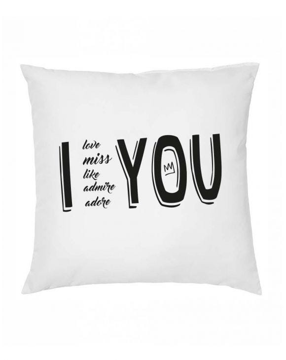 I AND YOU WHITE PILLOW