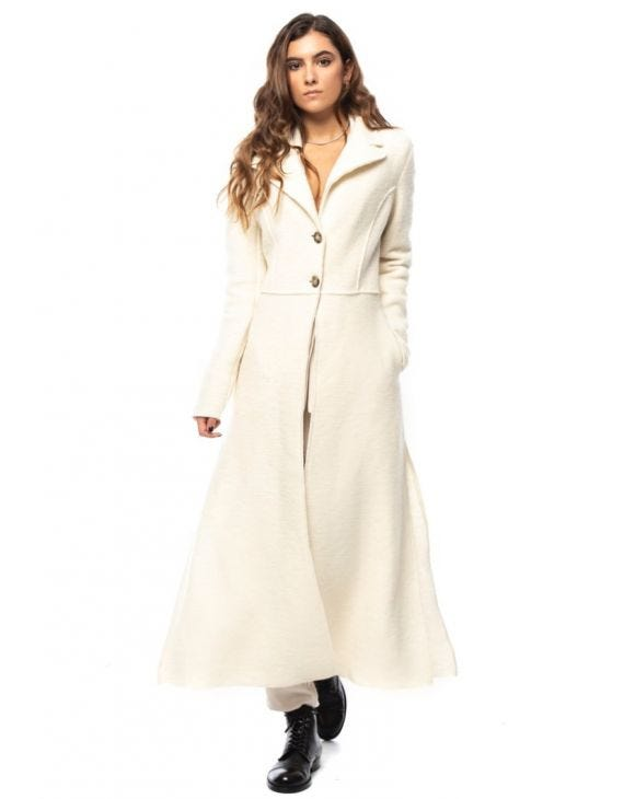 ALETHA COAT IN WHITE