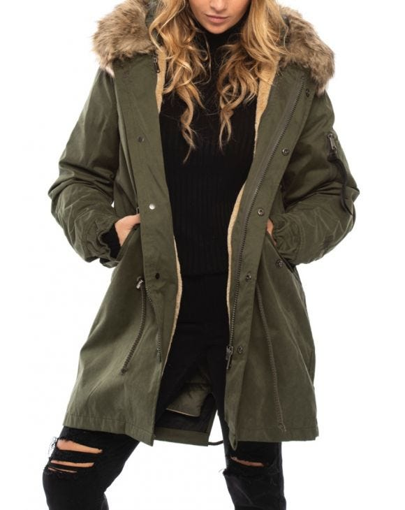WMN GREAT ICE PARKA IN GREEN
