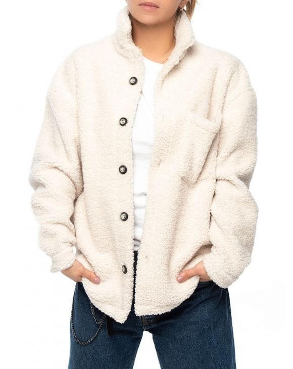WMN HARRY SHEARLING JACKET IN CREAM