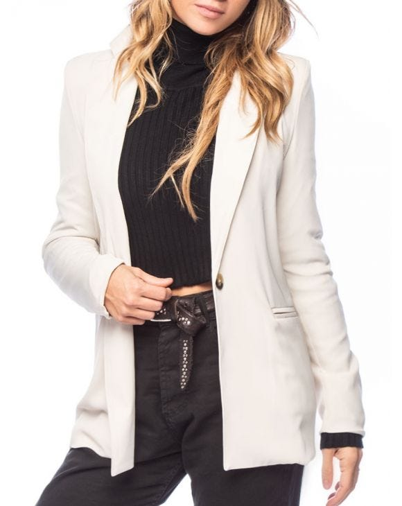 BONNIE SINGLE BREASTED BLAZER IN CREAM