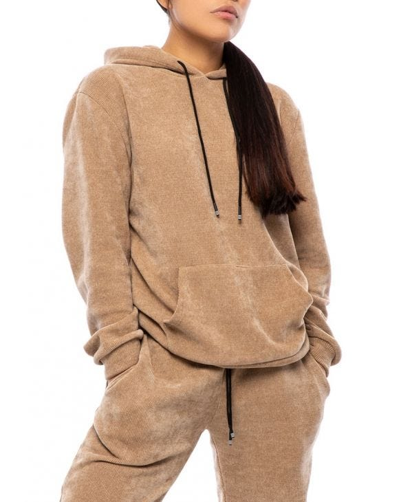 WMN BUD SWEATSHIRT IN CAMEL