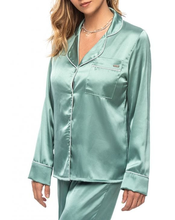 MEGHAN PAJAMAS IN SAGE GREEN