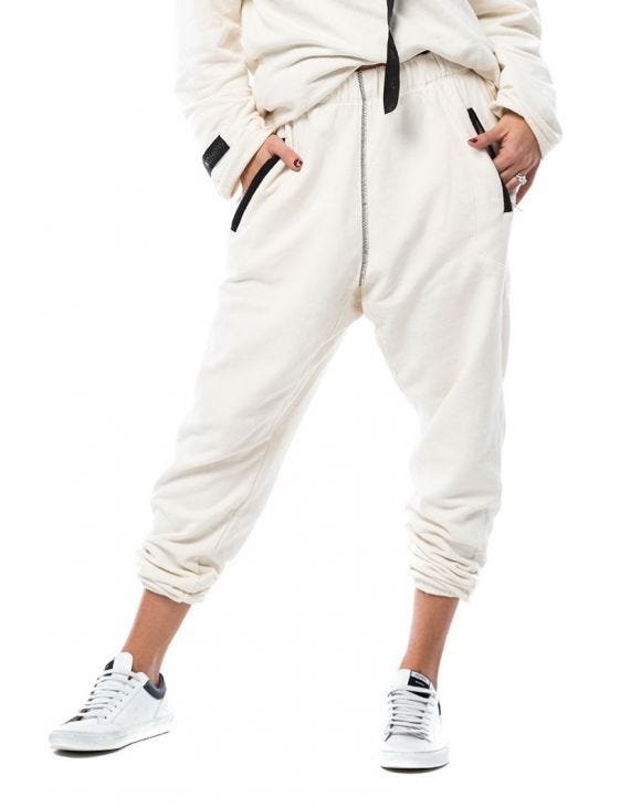 WMN YAGU SWEATPANTS IN WHITE