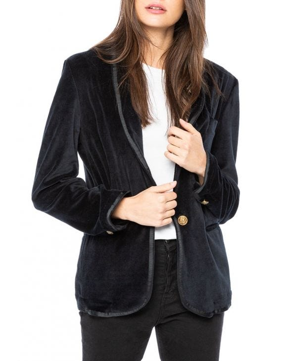 WMN BAROQUE BLAZER IN BLACK