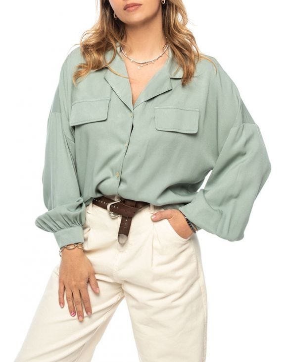 FANNIE CASUAL SHIRT IN GREEN