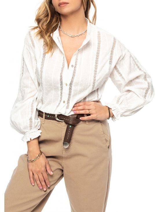 FELICITY CASUAL SHIRT IN WHITE