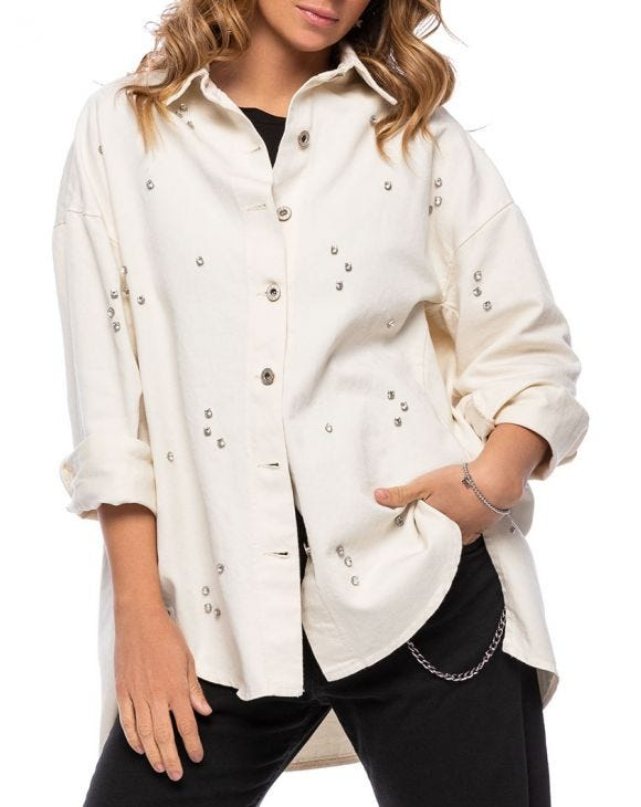 SUMMER OVERSHIRT IN CREAM