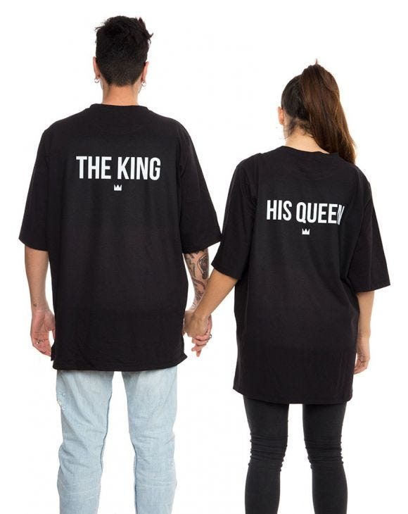 THE KING & HIS QUEEN T-SHIRTS IN SCHWARZ