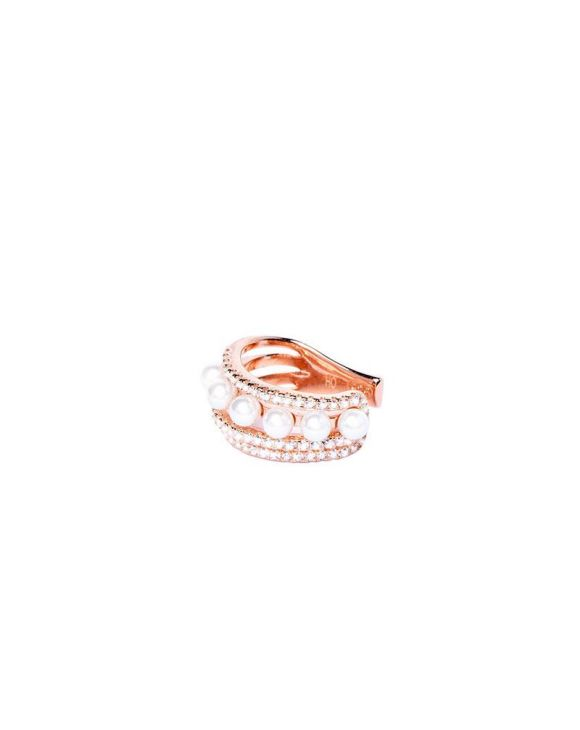 ELIZABETH EARCUFF IN ROSE GOLD AND PEARLS
