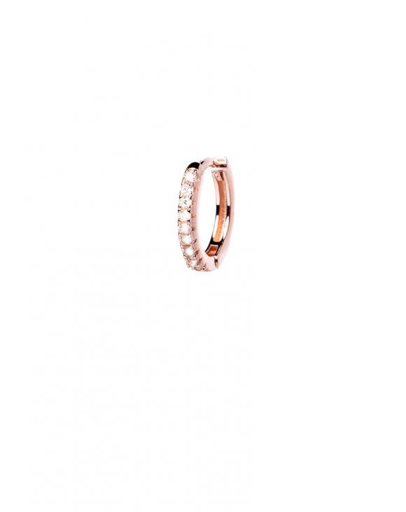 JODIE EARRING IN ROSE GOLD WITH ZIRCONS