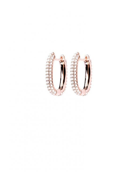 KIMBERLY EARRINGS IN ROSE GOLD WITH ZIRCONS