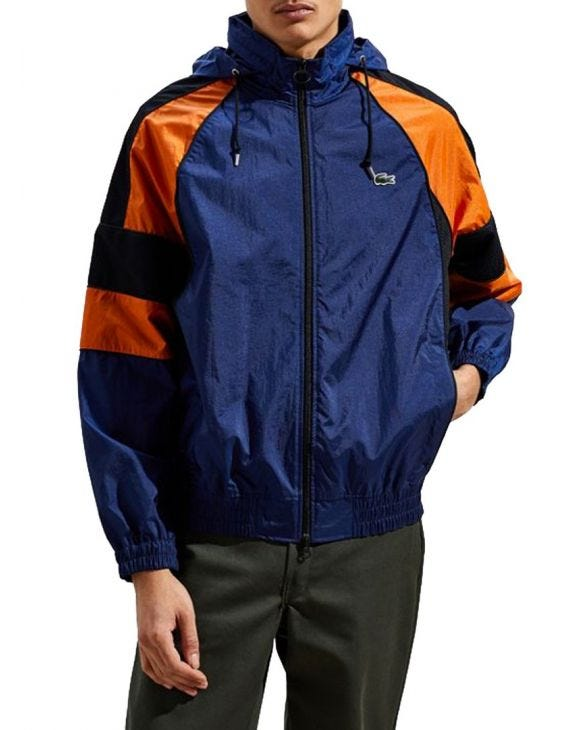 LACOSTE JACKE IN BLAU UND ORANGE