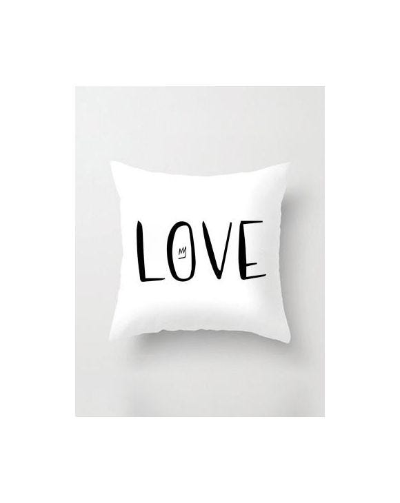 LOVE WHITE PILLOWCASE