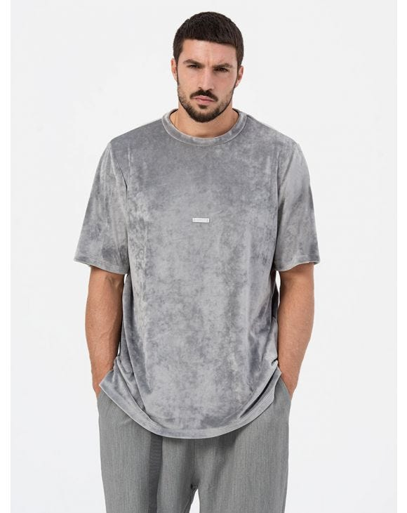 JACE CHENILLE OVER T-SHIRT IN GREY