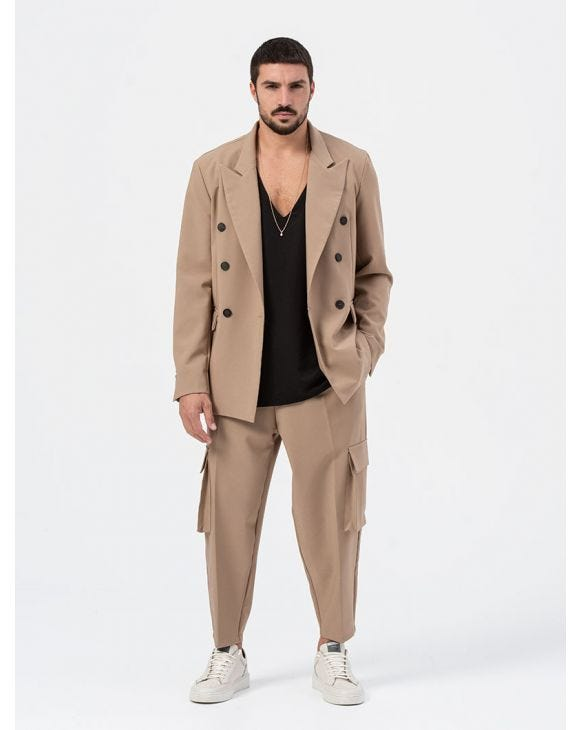AUGUST DOUBLE BREASTED SUIT IN CAMEL