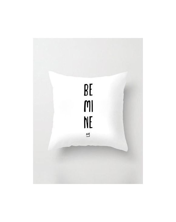 BE MINE TAIE D'OREILLER EN BLANC