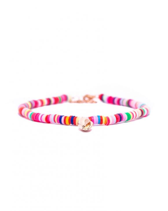 SUMMER BRACELET IN MULTICOLOUR WITH SHELL CHARM
