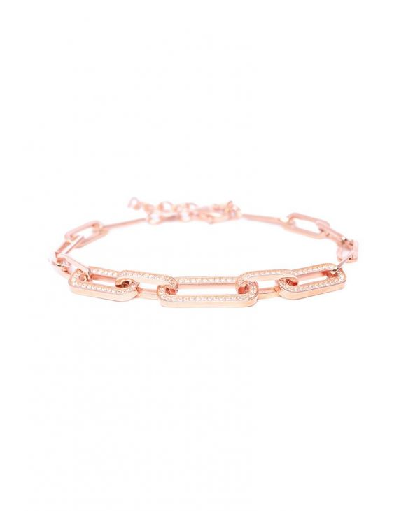 MEGAN CHAIN BRACELET IN ROSE GOLD WITH ZIRCONS