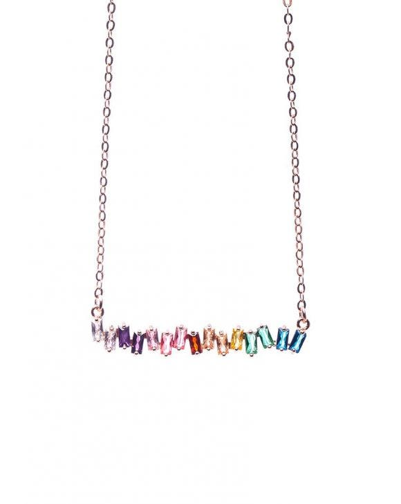 MADISON RAINBOW COLLAR PIEDRAS COLORADAS