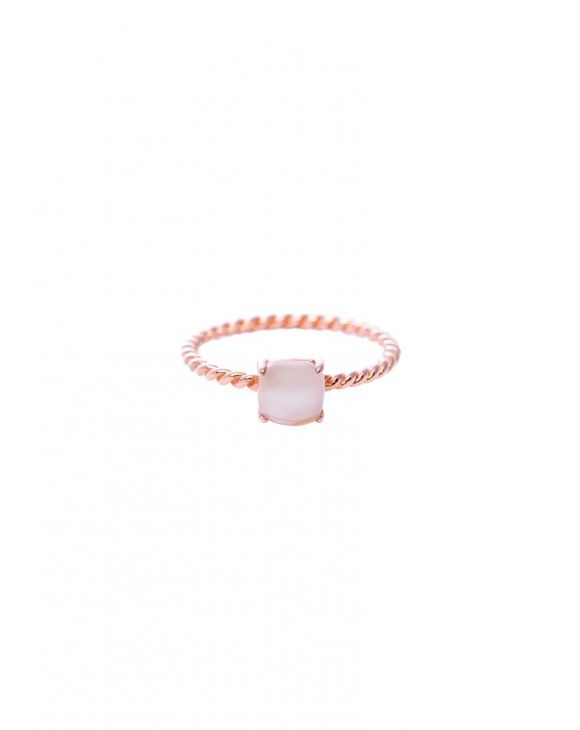 CHERYL RING WITH ROSE STONE IN ROSE GOLD