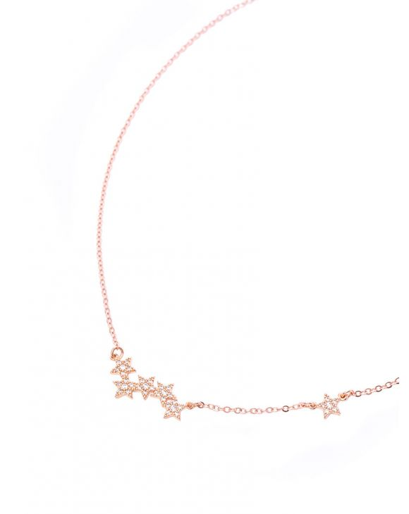 NECKLACE BAR ROSE STAR