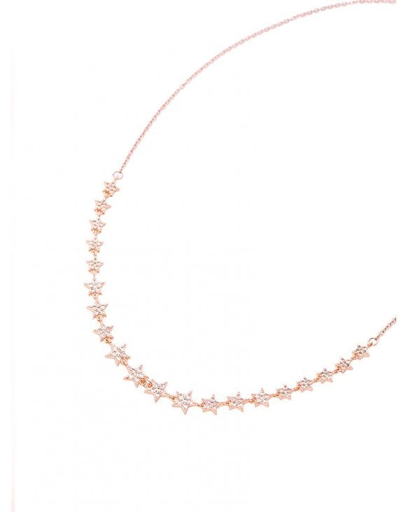 ANDROMEDA NECKLACE WITH ZIRCONS STARS
