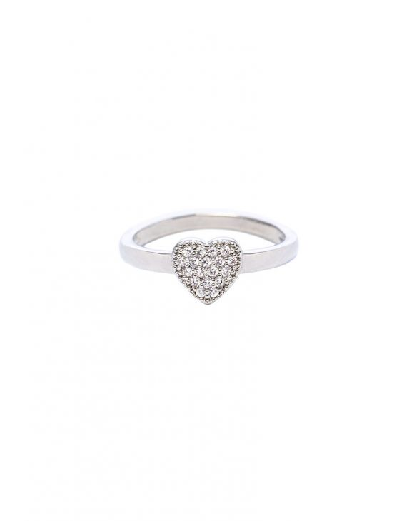 ROXANE HEART RING IN SILVER WITH ZIRCONS
