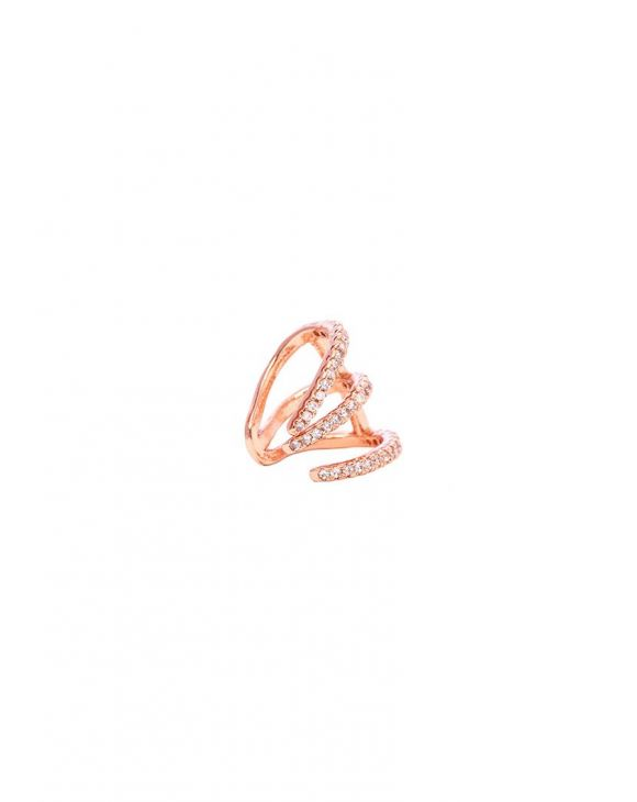 HOPE EARCUFF IN ROSE GOLD WITH ZIRCONS