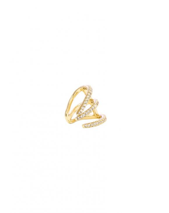HOPE EARCUFF IN GOLD WITH ZIRCONS