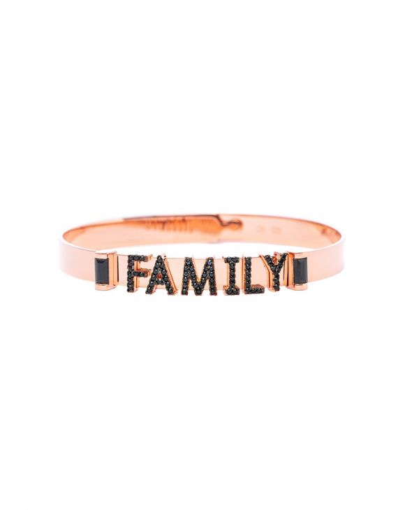 FAMILY ARMBAND IN ROSENGOLD MIT SCHRIFTZUG