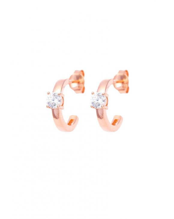 SCARLETT EARRINGS IN ROSE GOLD WITH WHITE SPARKLE