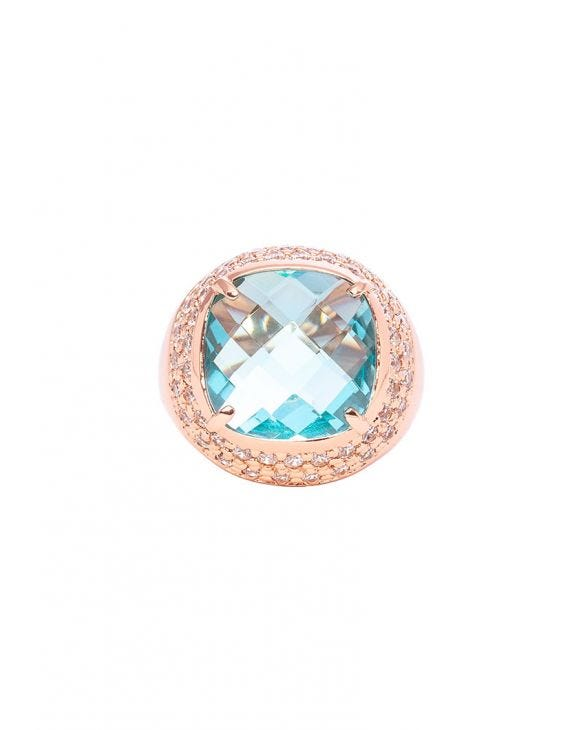 LUNA CIRCLE RING IN ROSE GOLD WITH ZIRCONS