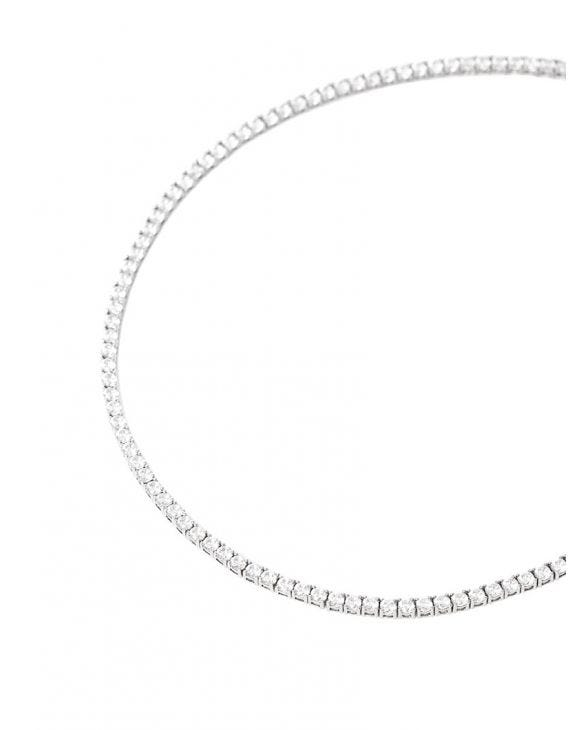TENNIS NECKLACE IN WHITE