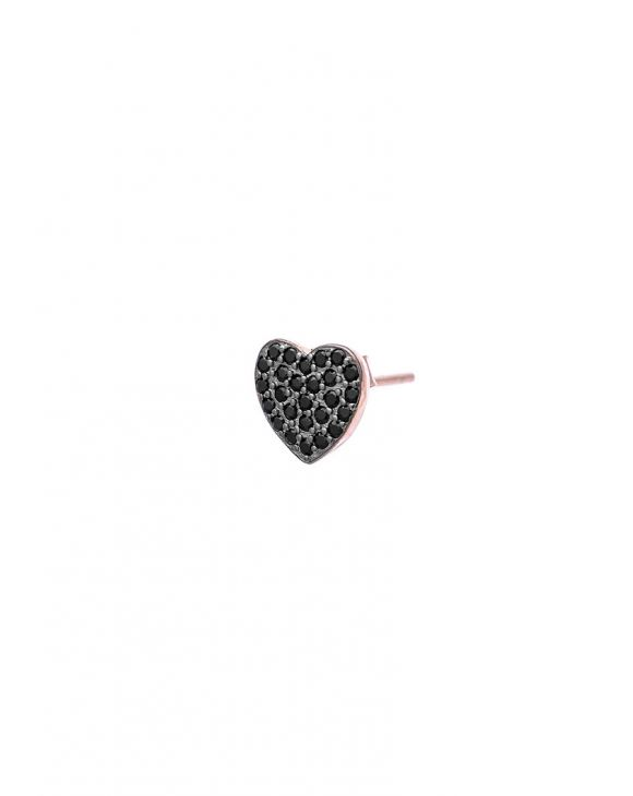 COLINE HEART EARRING IN BLACK