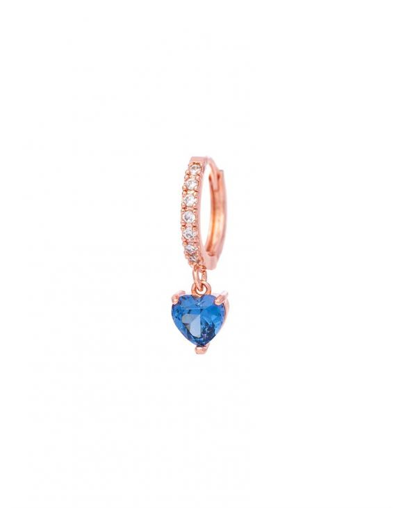 BEATRIX EARRING WITH BLUE HEART PENDANT