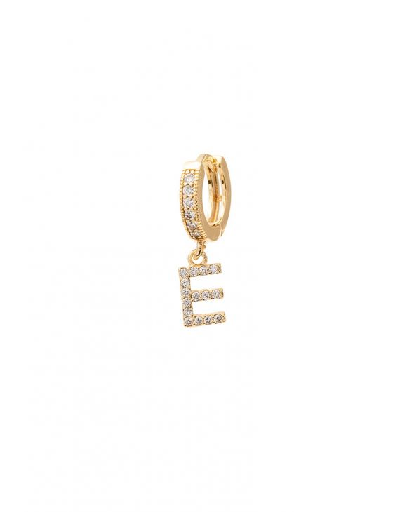 CUSTOMIZED LETTER EARRING IN GOLD COLOR