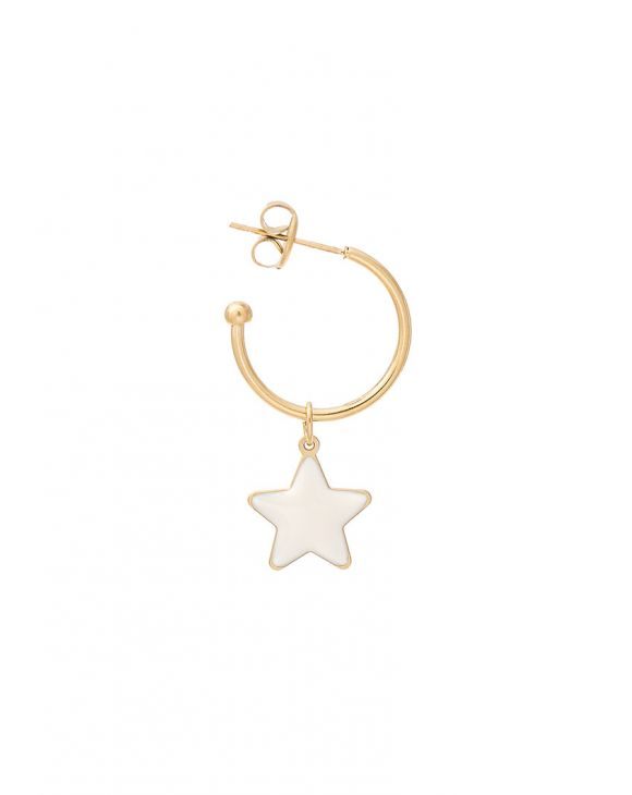 SUE EARRING WITH WHITE STAR