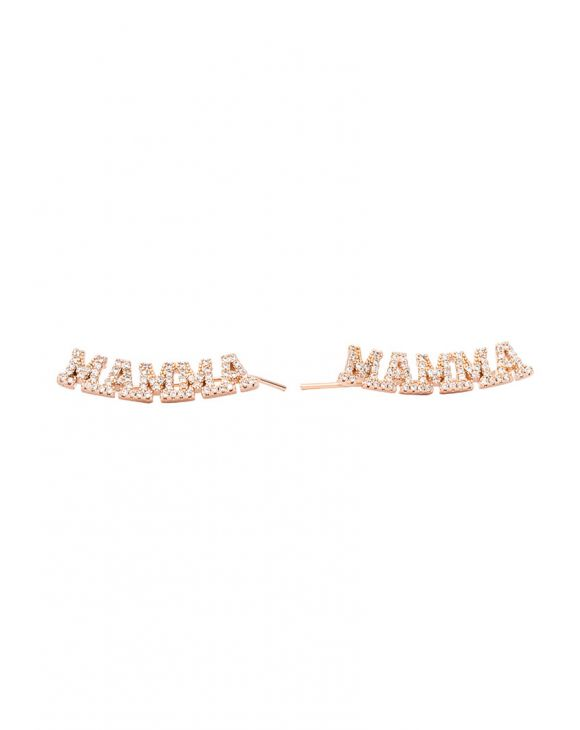 MAMMA EARRINGS IN ROSE GOLD COLOR