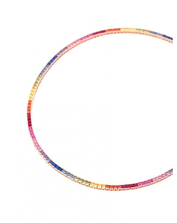 TENNIS NECKLACE IN MULTICOLOR