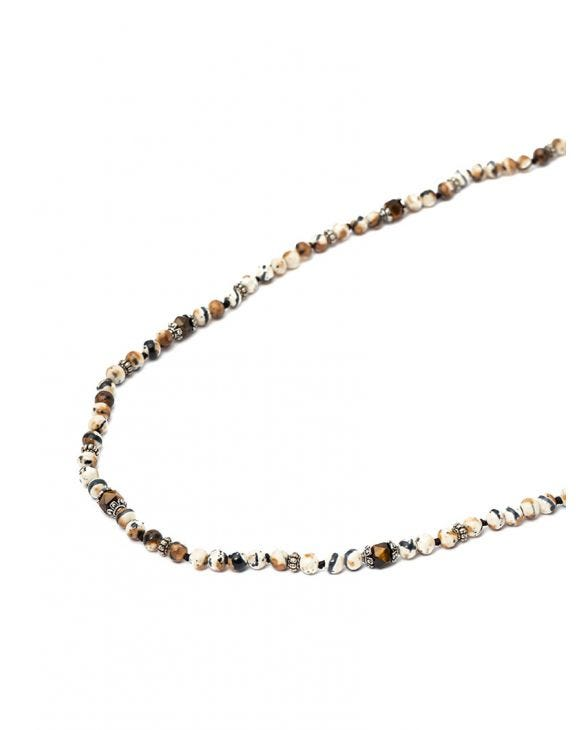 NAIM NECKLACE IN BROWN AND CREAM