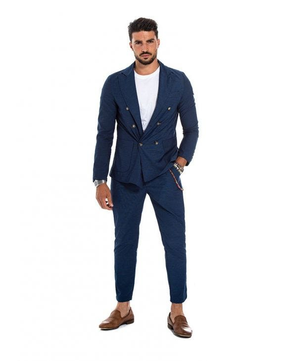 BALE DOUBLE BREASTED SUIT IN BLUE