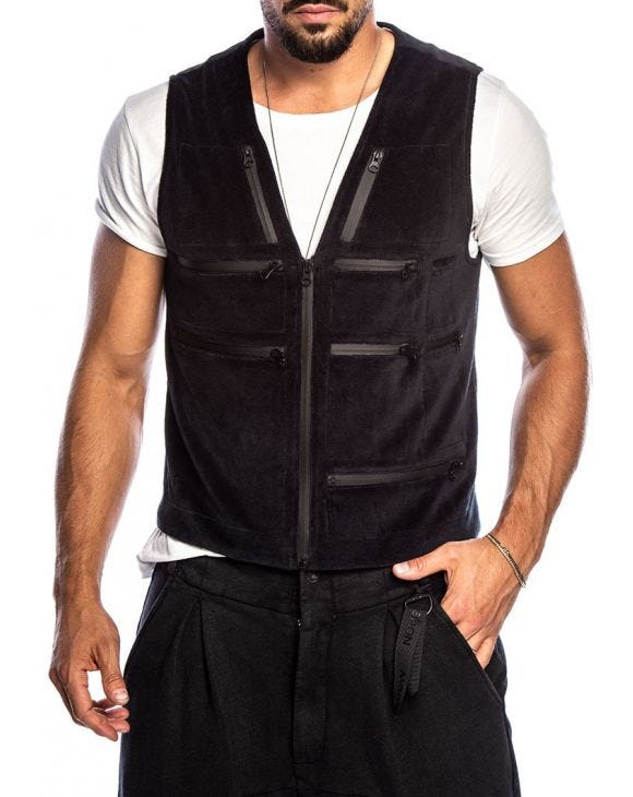 AZETO VEST IN BLACK