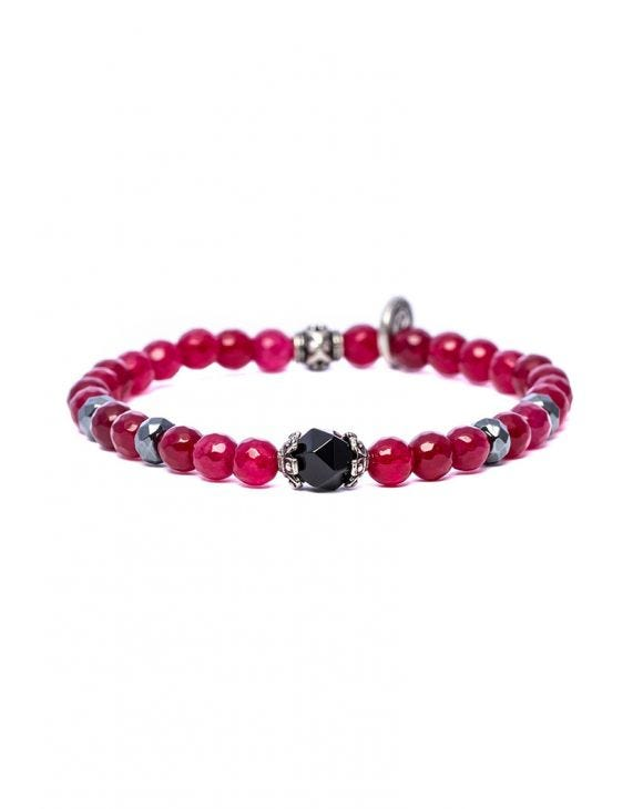 KETAN BRACELET IN RED