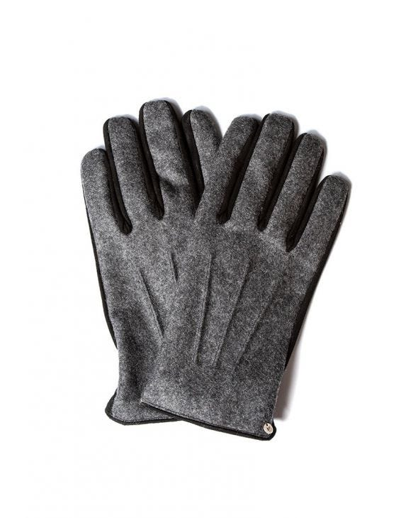 FLANNEL GLOVES IN GREY AND BLACK