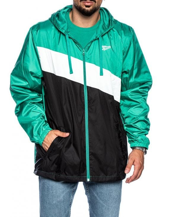 CL WP WINDBREAK JACKET IN BLACK AND GREEN