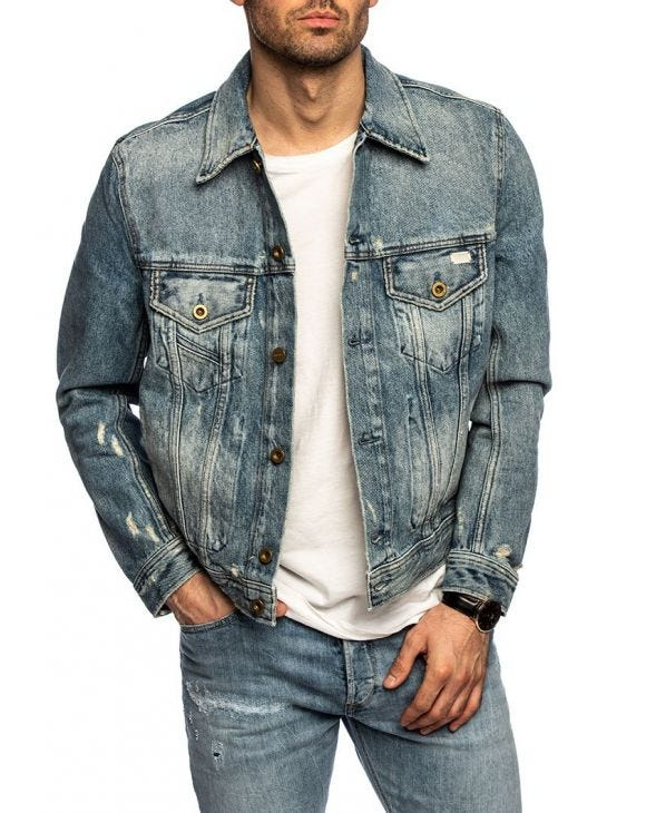 D.BRAY DENIM JACKET IN BLUE DENIM